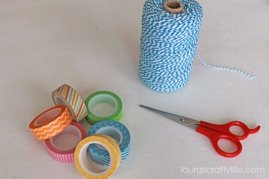 supplies for washi tape bunting