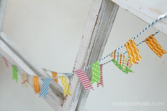 washi tape and twine bunting