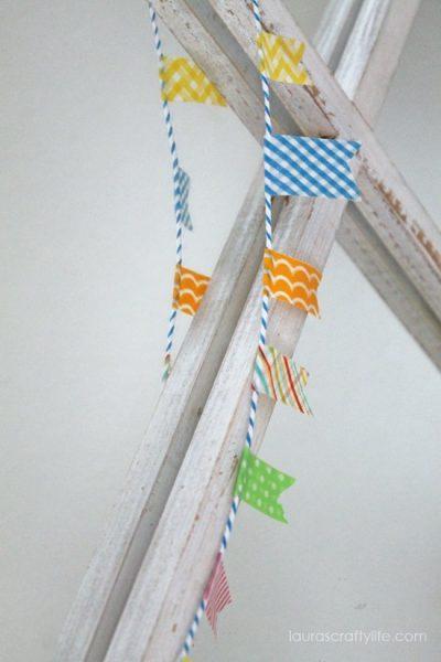washi tape bunting banner