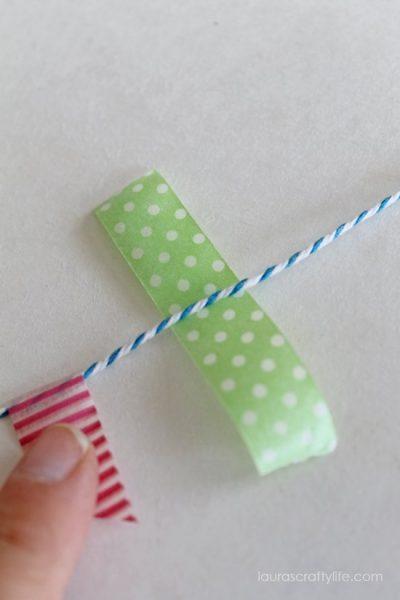 washi tape under twine