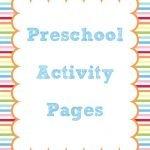 Preschool and Kindergarten Activity Pages
