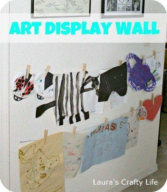 Childrens Art Display Wall
