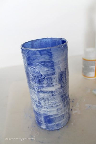 cover whole vase in mod podge
