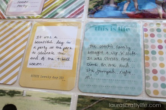 journaling for dear lizzy 5th and frolic t-ball