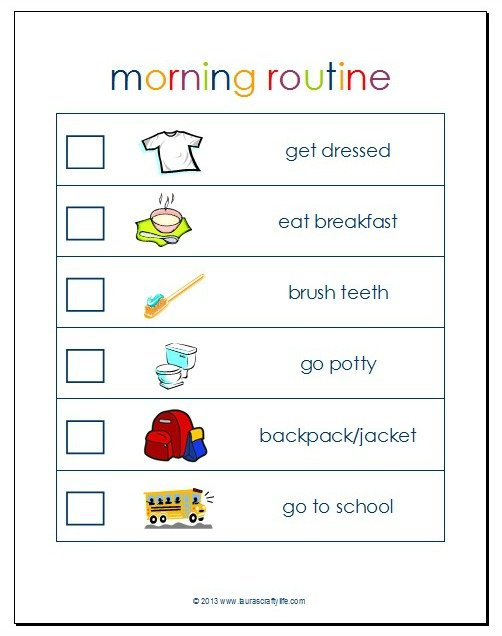 Morning Routine Printable - Laura's Crafty Life
