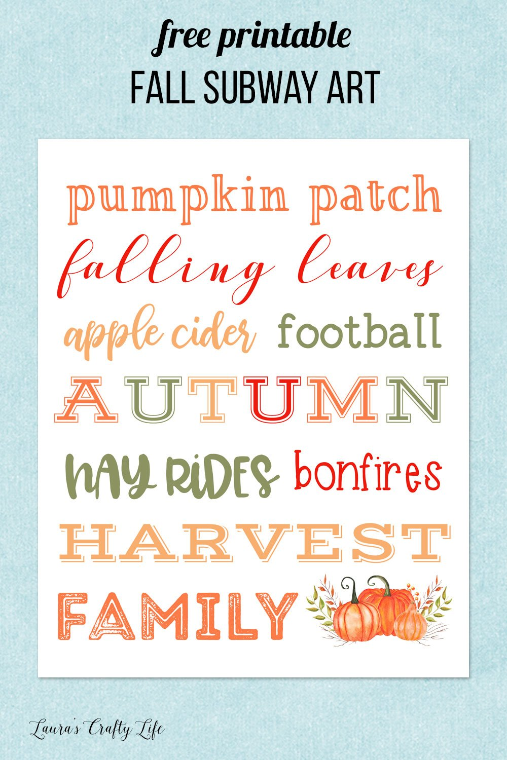 free printable fall subway art