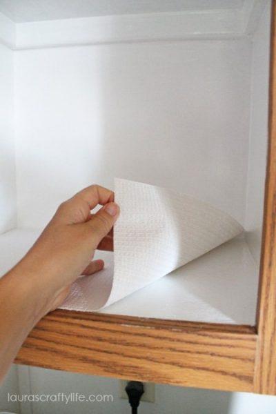 shelf liner for laundry room