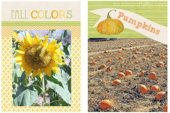 Fall picture for Project Life 6 x 4
