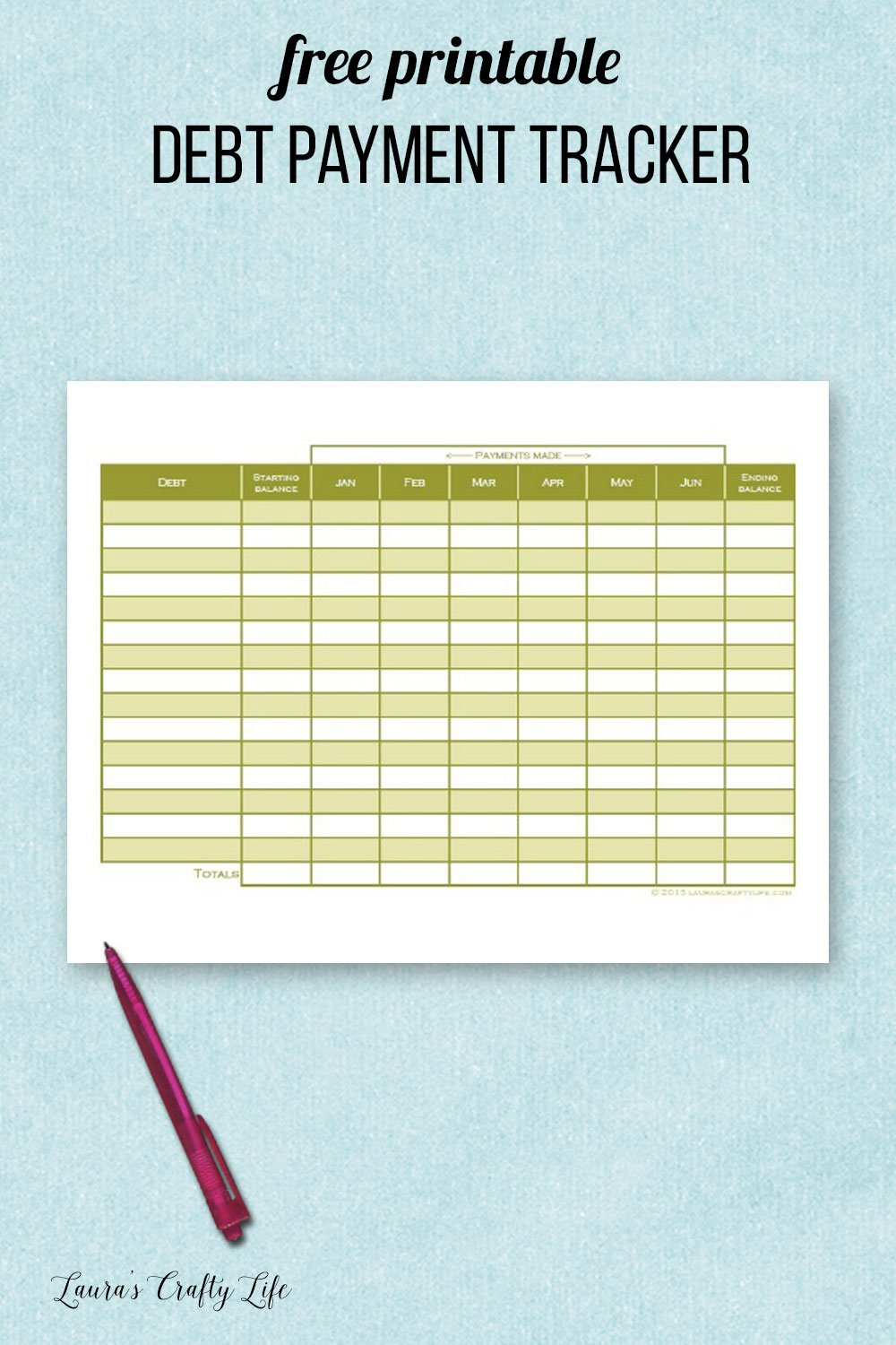 It is a photo of Unusual Money Tracker Printable