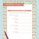 free printable emergency contacts
