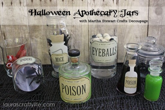 Halloween Apothecary Jars Martha Stewart Crafts Decoupage