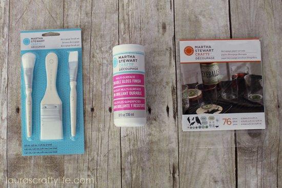 Martha Stewart Crafts Decoupage apothecary supplies