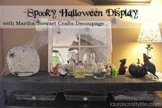 Spooky Halloween Display with Martha Stewart Crafts Decoupage
