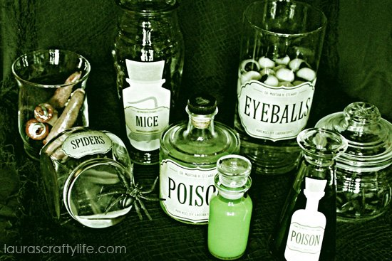 haunted apothecary jars