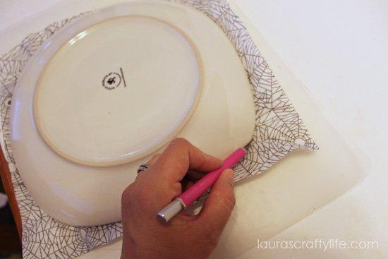trim excess decoupage paper