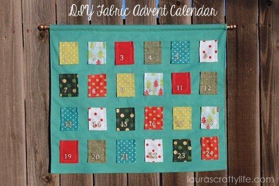 DIY Fabric Advent Calendar from Laura's Crafty Life