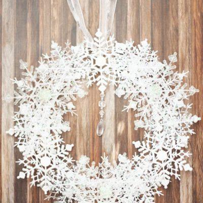 Dollar Tree snowflake wreath