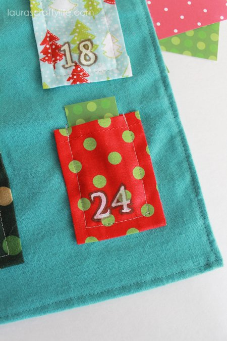 advent calendar with activity in pocket