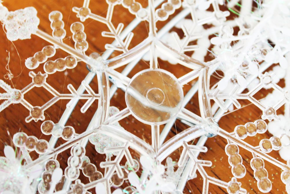 clear snowflake ornament