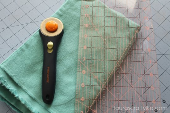 cut flannel fabric
