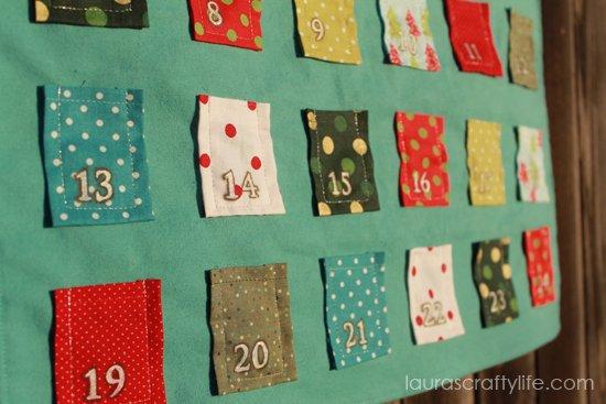 fabric advent calendar