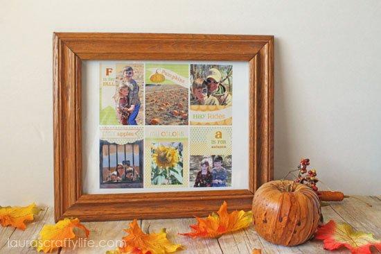 framed photo collage harvest photo minis