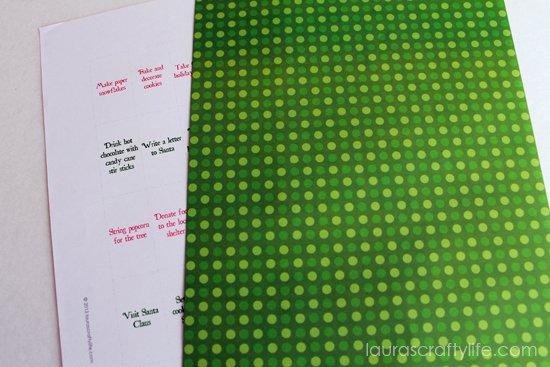 green paper advent calendar activity