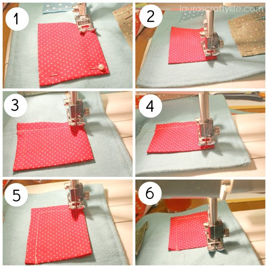 how to sew on pocket