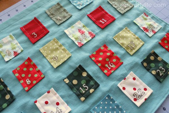 painted advent calendar pockets