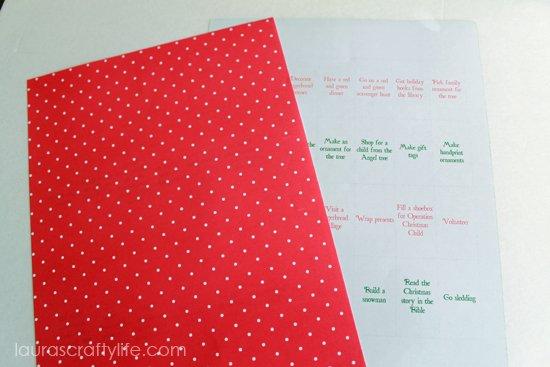 red paper advent calendar activities
