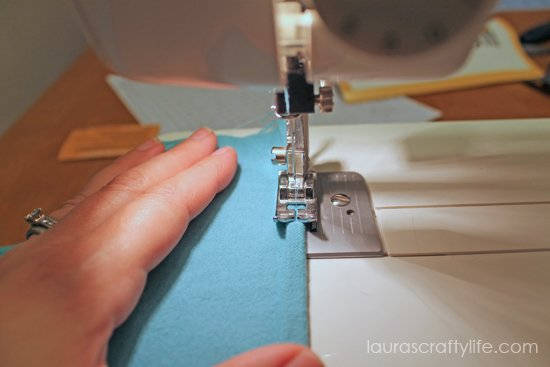 sew edge of flannel