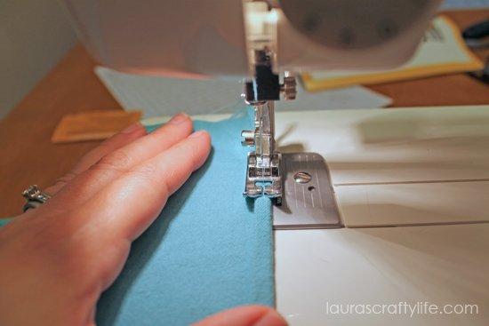 sew edge of flannel