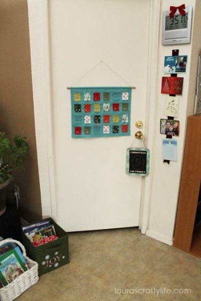Advent calendar on door