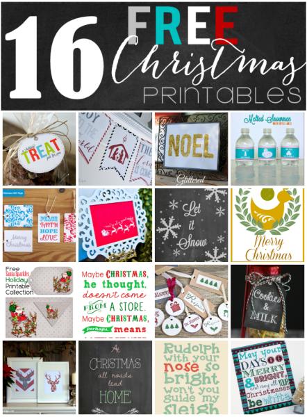 Christmas Printables Blog Hop