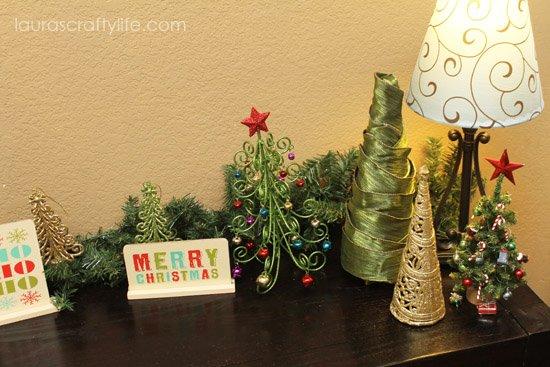 Christmas tree display right side