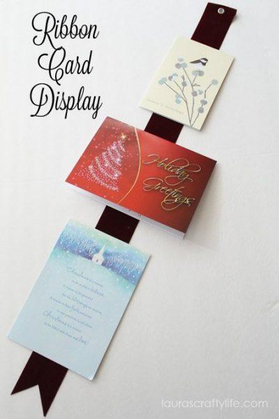 Ribbon Card Display at Laura's Crafty Life