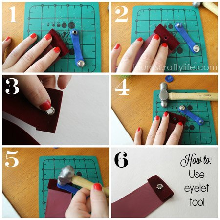 how to use eyelet tool