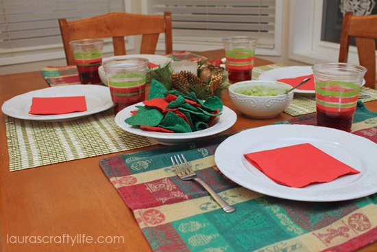 red and green dinner