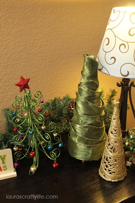 christmas tree wrapped in ribbon christmas home decor ideas we love