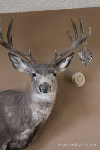 yearly ornament hung on deer