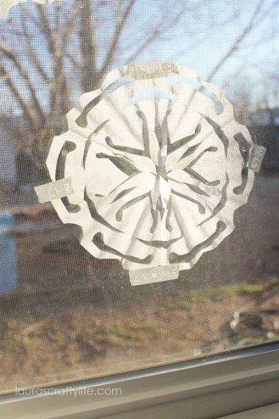 Coffee Filter Paper Snowflake