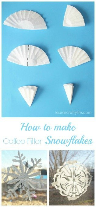 How to Make Coffee Filter Snowflakes - Laura's Crafty Life