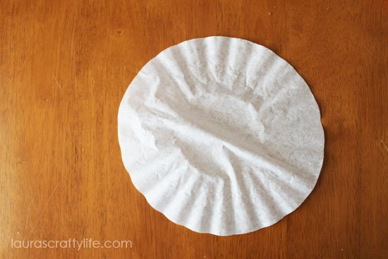 flatten out coffee filter