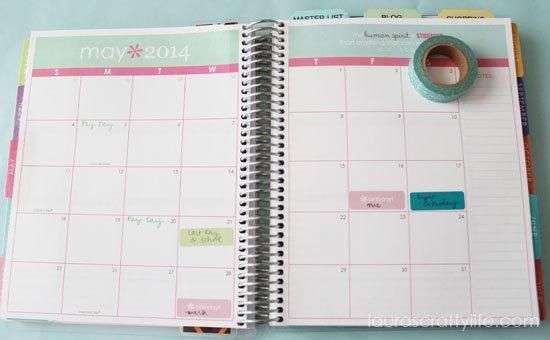 month at a glance Erin Condren