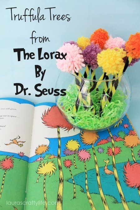 Make your own truffula trees from The Lorax