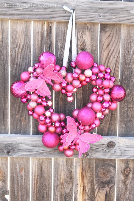 Valentine Heart Ornament Wreath 2
