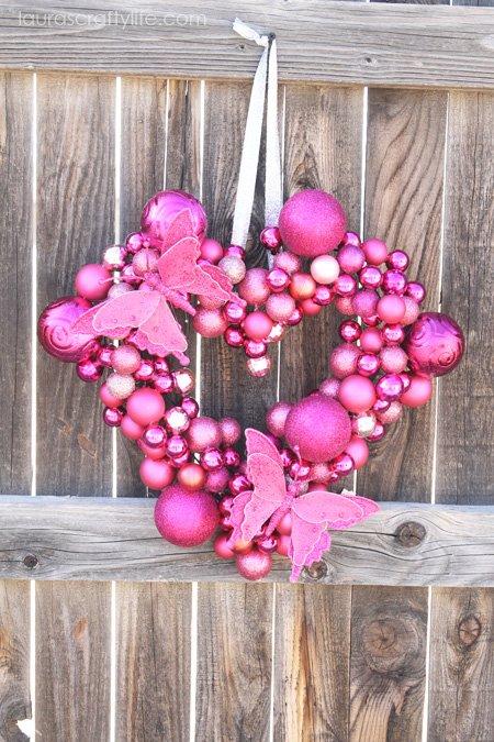 Valentine Heart Ornament Wreath 2