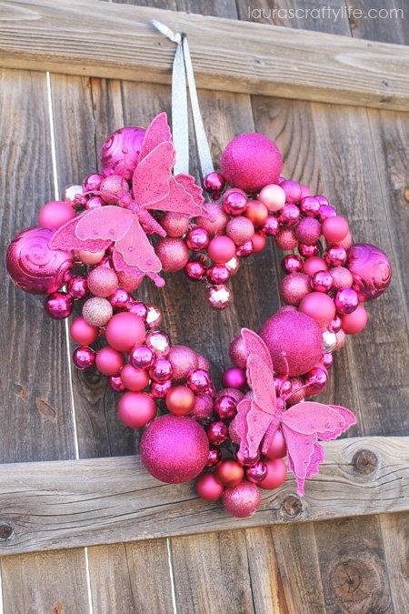 heart ornament wreath