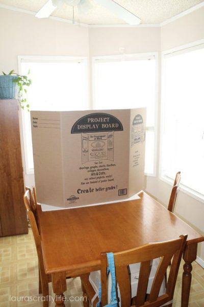 science display board as photo back drop