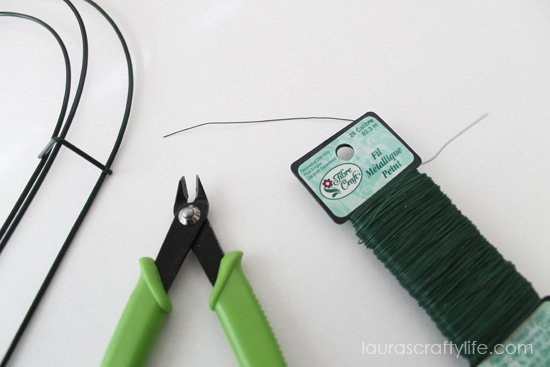 use wire snips to cut floral wire